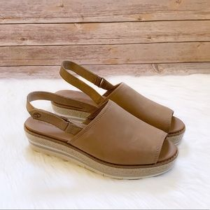 Timberland Emerson Point Peep Toe Leather Sandals